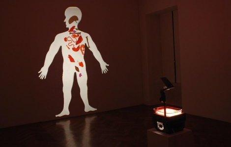 "Bevis Martin & Charlie Youle, ""Insides"", 2013, installation with overhead projector"